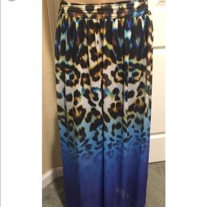 Worthington Animal Print Ombré Skirt